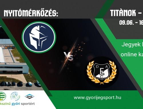 Nyitómérkőzés az új Nemak Jégcsarnokban! Titánok – DEAC / 09.06. – 16:00